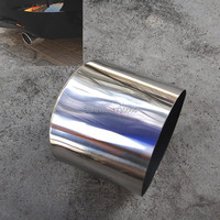 Chrome Stainless Rolled Tail Pipe Exhaust Muffler Tip For Honda Accord 2008 2012 Coupe 2 Door