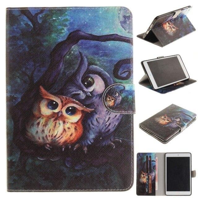 Новый Малыш Чехлы для iPad Mini 3 2 1 Симпатичные Сова Флип Folio PU кожаный Чехол для iPad Mini 3 2 1 Conque Капа с Слот Для Карт