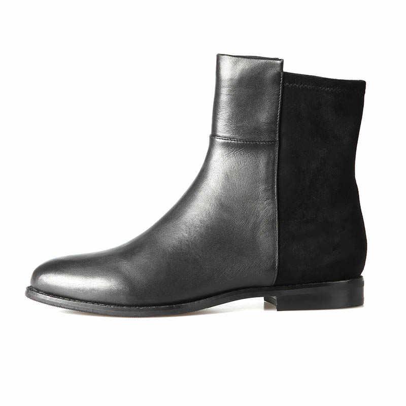 2019 ฤดูใบไม้ผลิและฤดูใบไม้ร่วง Martin boots รองเท้ากันน้ำแพลตฟอร์มสตรีรองเท้าหนังสบายรองเท้าทหารรองเท้า