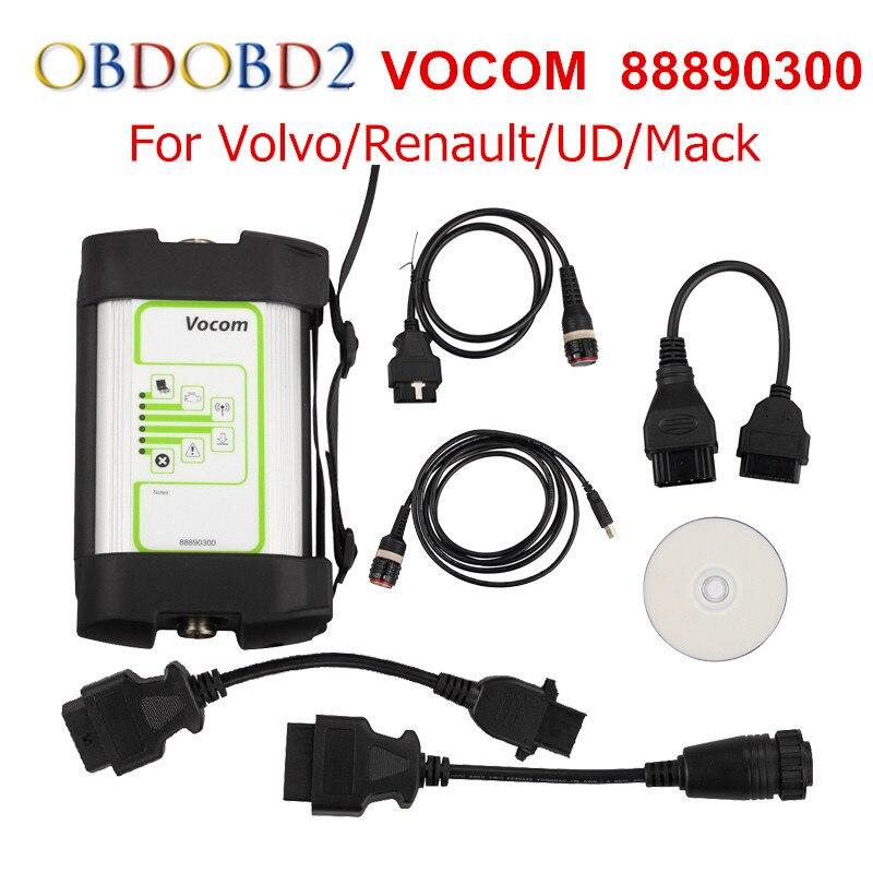 Последним для Volvo 88890300 vocom Интерфейс грузовик инструмент диагностики для Renault/UD/Мак/Volvo vocom 88890300 онлайн обновление Бесплатная доставка