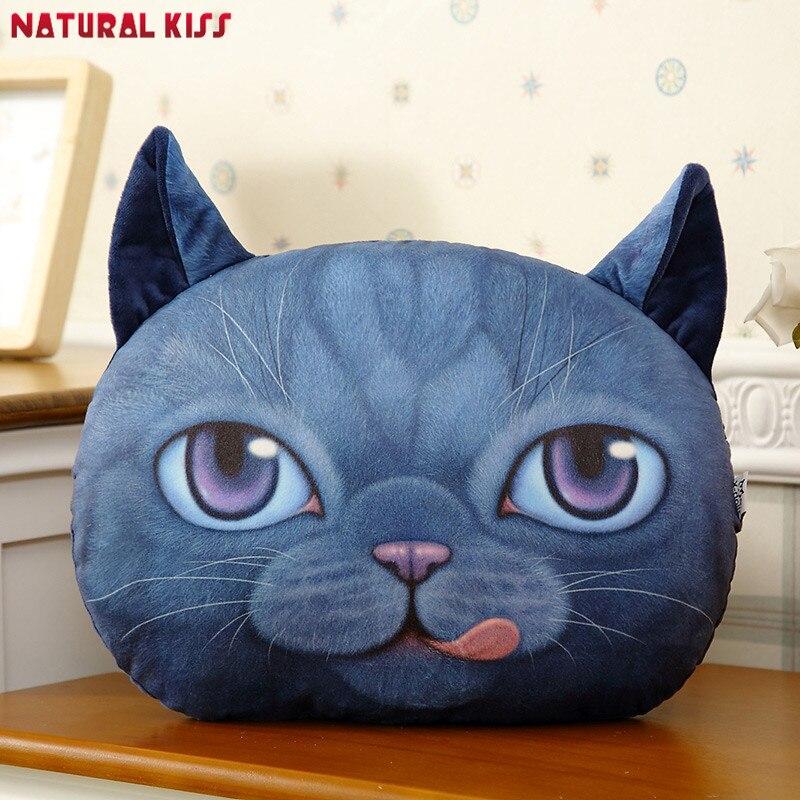 Fashion New 3D Cute Cat Cushion Emoji Office Car Nap Pillow Sofa Home Decorative Cartoon Pillows Plush Toys For Birthday Gift