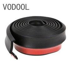 VODOOL 2,5 м/8.2FT автомобильный Стайлинг мягкий резиновый автомобильный бампер 65 мм ширина Авто внешний передний бампер для губ протектор наклейки полосы комплект
