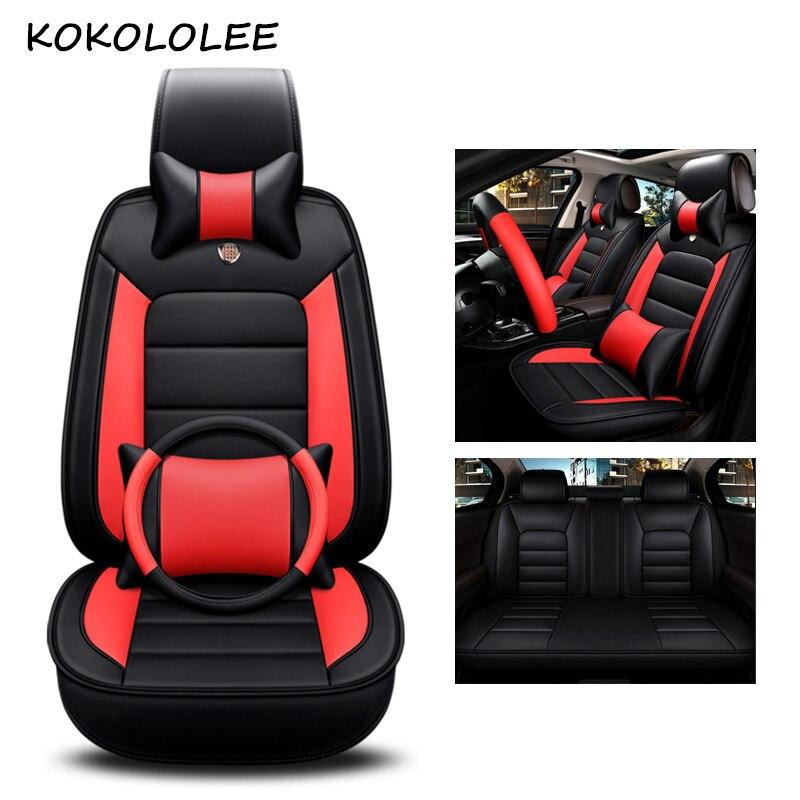 Kokololee pu siège de voiture en cuir couverture Pour volvo v50 ford fiesta daewoo nexia seat leon fr lada kalina car styling auto accessoires