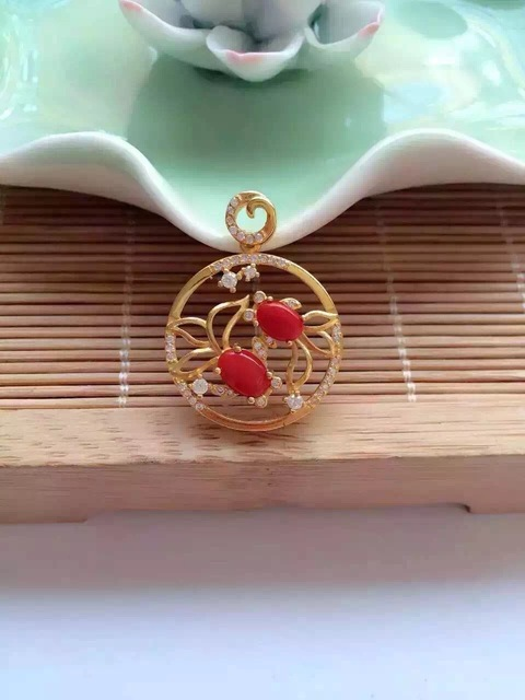life oval pd red product crystal pendant coral p