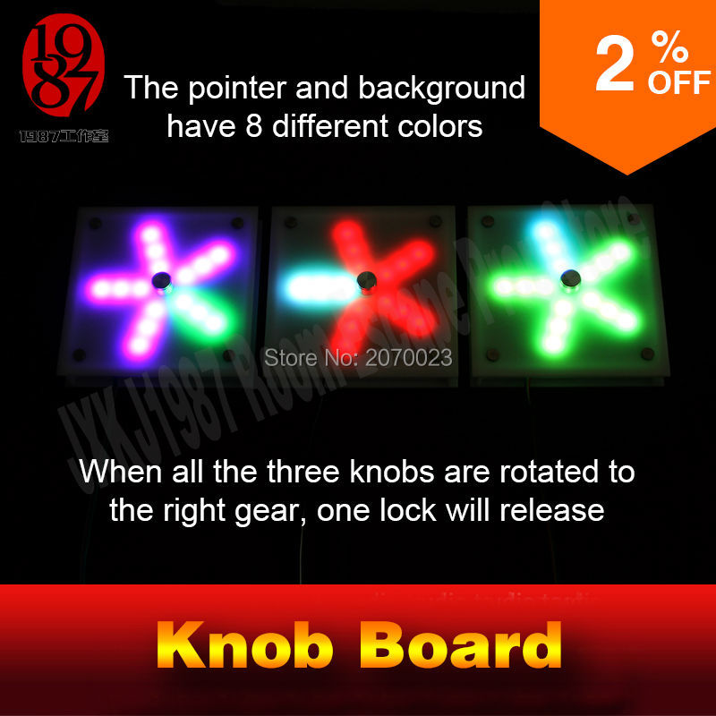 Knob board prop for room escape game prop adjust knob puzzles devices to proper gear to unlock the lock and get out chamber room ...