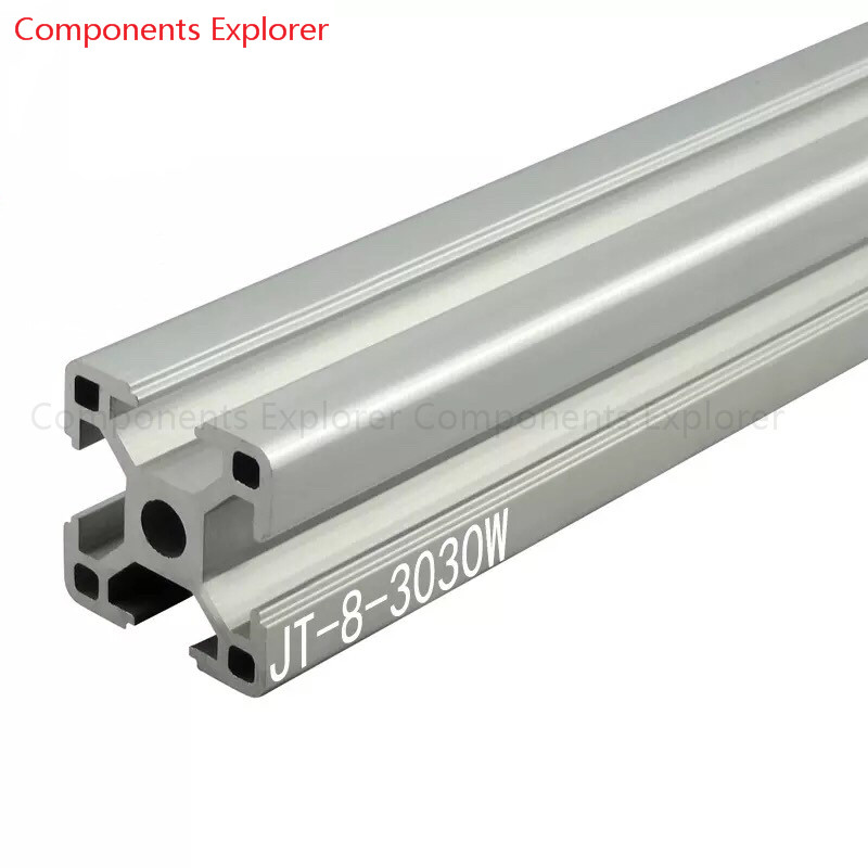 Arbitrary Cutting 1000mm 3030W Aluminum Extrusion Profile,Silvery Color.