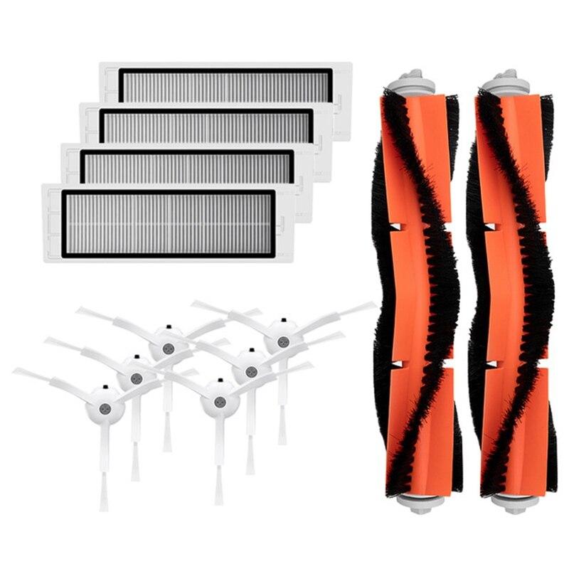 SANQ 6 X Side Brush + 4 X Hepa Filter + 2 X Main Brush For Xiaomi Vacuum 2 Roborock S50 Mi Robot Vacuum Cleaner Parts Accessor
