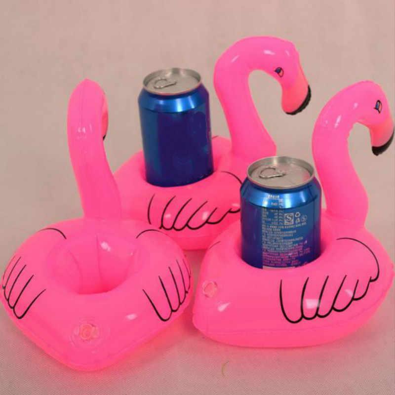 1 חתיכה מיני פלמינגו צף מתנפח לשתות יכול טלפון סלולרי מחזיק מעמד בריכת צעצועי אירוע & מפלגה ספקי
