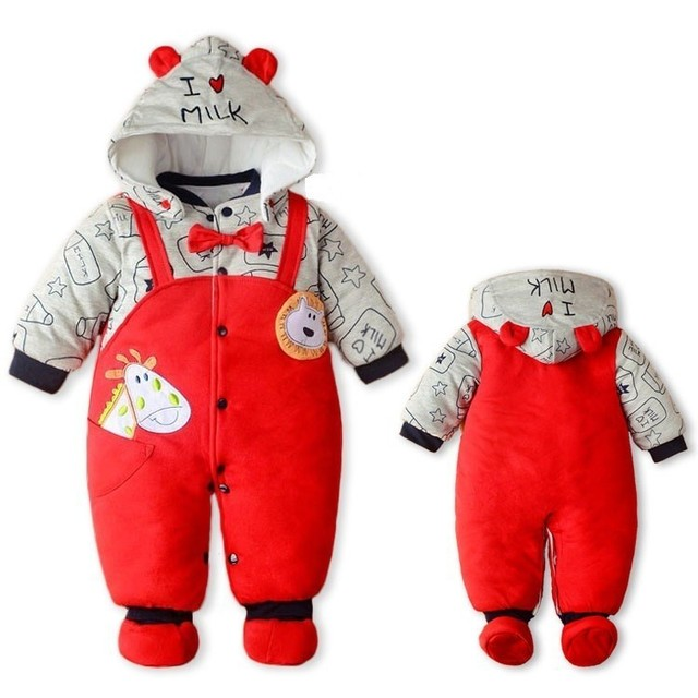15ebf2514 Baby Winter Romper 2018 New Brand High Quality Cartoon Cotton ...