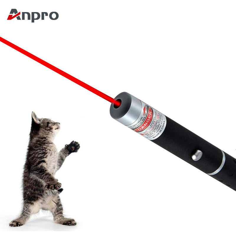 Anpro LED Laser Pet Cat Toy 5MW Red Dot Laser Light Toy Laser Sight 530Nm 405Nm 650Nm Pointer Laser Pen Interactive Toy With Cat