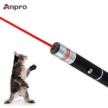 Anpro светодиодный лазерный питомец кошка игрушка 5 мВт красный точечный лазерный светильник игрушка лазерный прицел 530нм 405нм 650нм лазерная указка интерактивная игрушка с кошкой