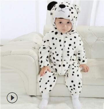 2018 Spring Autumn Baby Clothes Flannel Baby Body suits Newborn Infant Romper Animal Onesie Costume Hooded Jumpsuit ST3035