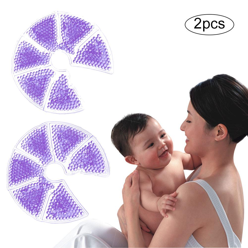 2 Pcs Breast Care Hot And Cold Pad Reusable Compress Pad 3-in-1 Mother Supplies