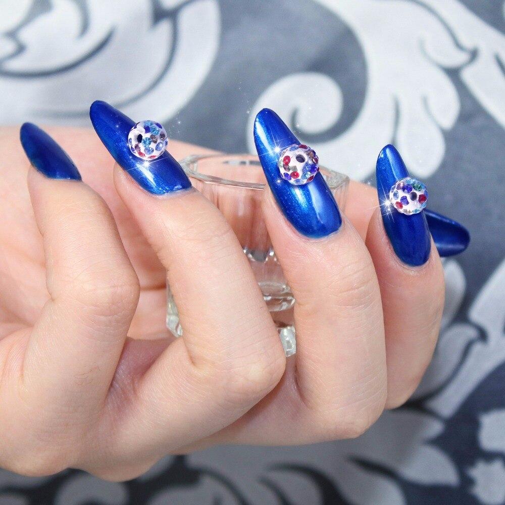 10 Pcs DIY Glitter Jelly Nail Art Rhinestones With Round and ...
