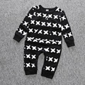 New Newborn Baby Boy  Clothes Long Sleeve Cartoon Printed Jumpsuit Baby Romper Giyim Christmas Similar Carter Clothing