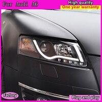 Автомобильные светодиодные фары для Audi A6 светодиодный задний фонарь светодиодный свет бар СИД DRL HID объектив Plug and Play подходит для A6L 2005 2008