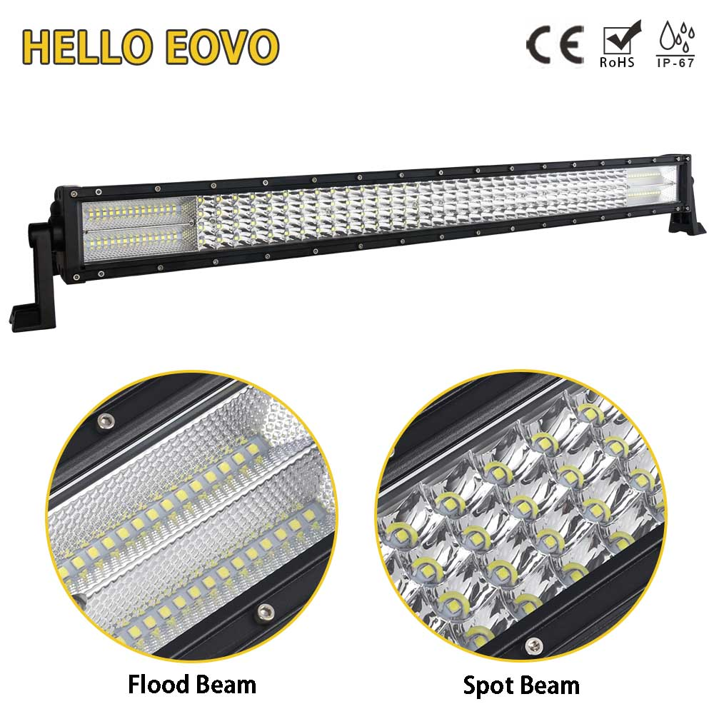 HELLO EOVO LED Bar 4 Rows 32 inch LED Light Bar for Work Indicators Driving Offroad Boat Car Tractor Truck 4x4 SUV ATV 12V 24v hello eovo 5d 32 inch curved led bar led light bar for driving offroad boat car tractor truck 4x4 suv atv with switch wiring kit