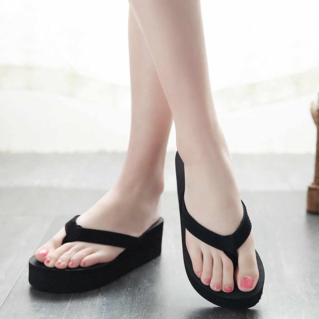 Dép Nữ Thời Trang Và Giản Dị Chống Trơn Trượt Nêm Giày Đi Biển Và Nhà Dép Giày Người Phụ Nữ Sandalias Zapatos De Mujer тапки