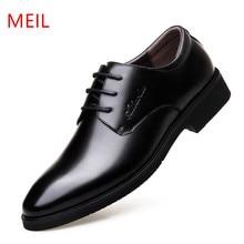 цена MEIL Men Shoes Genuine Leather Men Dress Shoes Brand Luxury Men's Business Casual Classic Gentleman Oxford Shoes Ma в интернет-магазинах