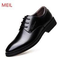 MEIL Men Shoes Genuine Leather Men Dress Shoes Brand Luxury Men S Business Casual Classic Gentleman