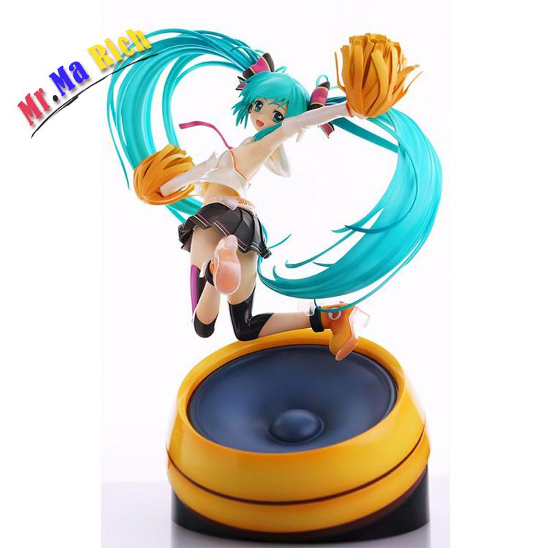 Christmas Hatsune Miku.Us 48 88 22cm Anime Volcaloid Hatsune Miku Cheerful Ver Pvc Action Figure Collection Model Toy Brinquedos Christmas Gifts With In Action Toy