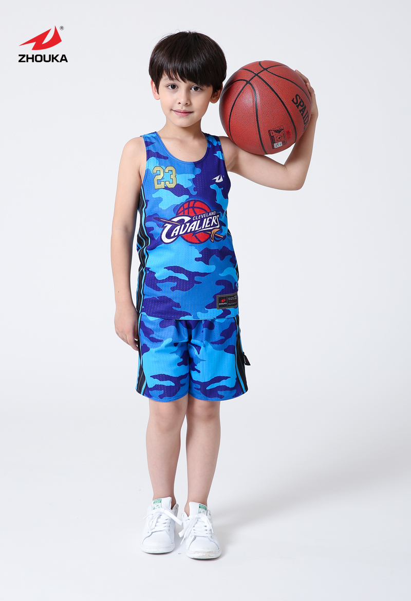 Custom popular design Kids basketball jersey Reversible basketball uniform