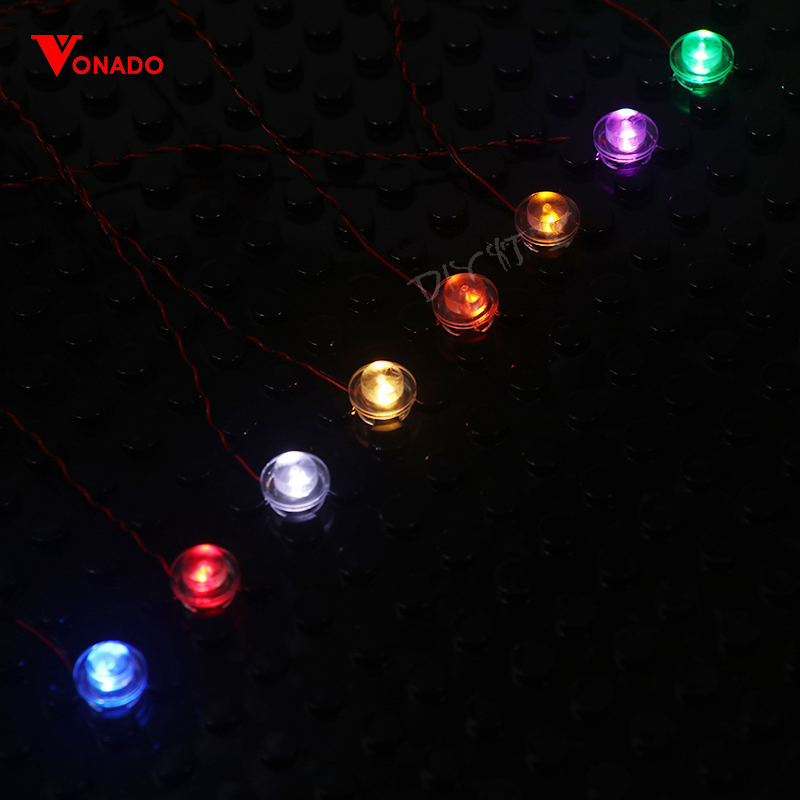 4 Packs Led Light Set For Lego City Street Single Lamp Battery Box USB For Lego /pin/ Creator House DIY Toys(Special Connector)