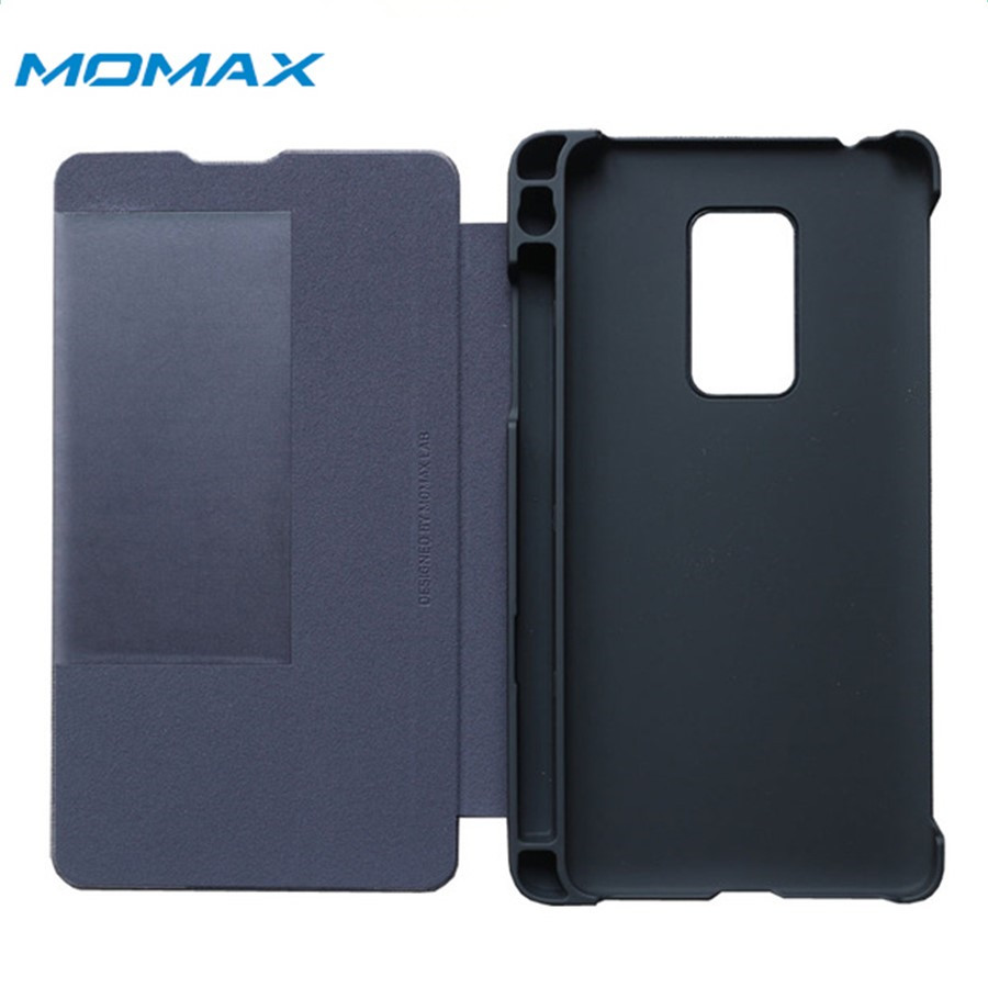Original MOMAX Brand For HUAWEI M Pen Case With Pencil Holder MATE 20 X Stand Smart Window View material Flip Cover