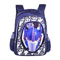 Pupils bag 2016 3D car student school bag Suitable for 1.4 meters of children High quality protection spinal Backpack