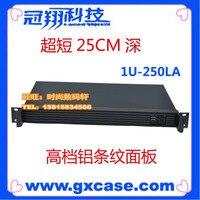 Ultra short 1u computer case itx atom firewall computer case 1u server embedded computer case card