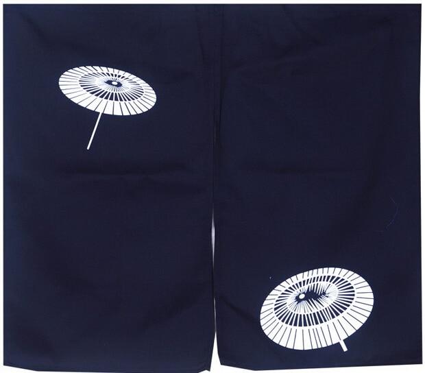 (Customized Size Accept) Korea/Japan/China Sushi Restaurant Kitchen Hanging Doorway Cloth Curtain-Umbrella(85x140cm)