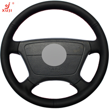 XUJI Black Leather DIY Car Steering Wheel Cover for Mercedes Benz E-Class W210 E200 240 280 320 1995-2002 W140 S320 350 420