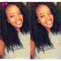 Kinky Curly Silk Top Wig 130 Density Virgin Brazilian Full Lace Human Hair Wigs Silk Base Front Lace Wigs For Black Women