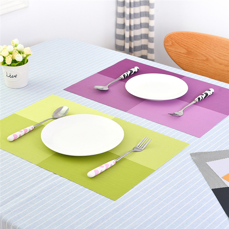Europe Style Table Mat PVC Heat-insulated Placemat Dinning Bowl Dining Table Pad Wholesale Free Shipping 30RI25