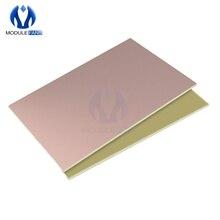1 шт. макетная доска 10x15 см Односторонняя печатная плата медная ламинированная доска FR4 Универсальный прототип 1,2 мм для DIY 10x15 см