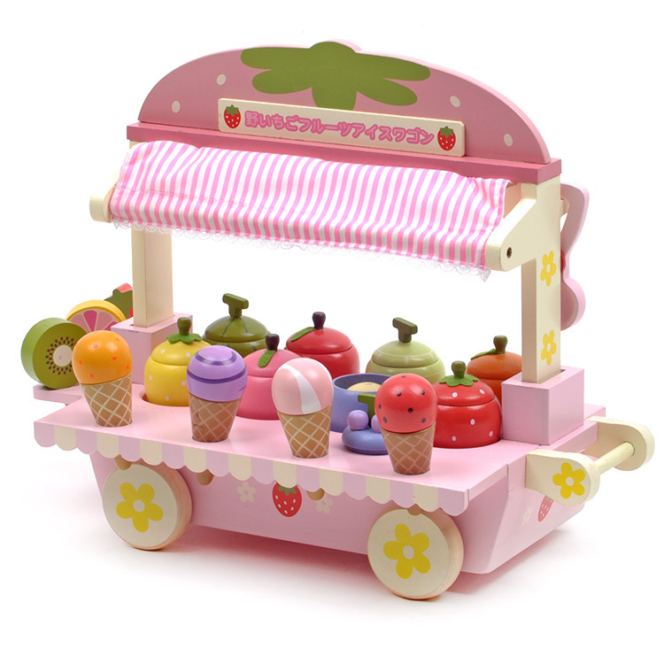 V Fantasy Pink Cute Wood Mother Garden Strawberry Ice