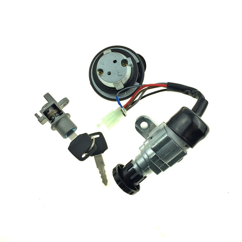 JOG50 Lock Ignition Key Switch Set Seat Lock Key kit For Scooter Yamaha JOG 50 JOG Z ZS ZR 50CC Motorcycle spare part 1 order in Locks Latches from Automobiles Motorcycles