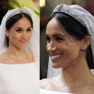 Image 5 - Royal Replica Tiara Met Echte Oostenrijkse Kristallen, Prinses Meghan Wedding Bridal Tiara Crown Hoofddeksels HG078