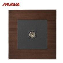 MVAVA TV Wall Decorative Receptacle Smart Television Outlet Socket Luxury Alumimum Brushed Plug Free Shipping