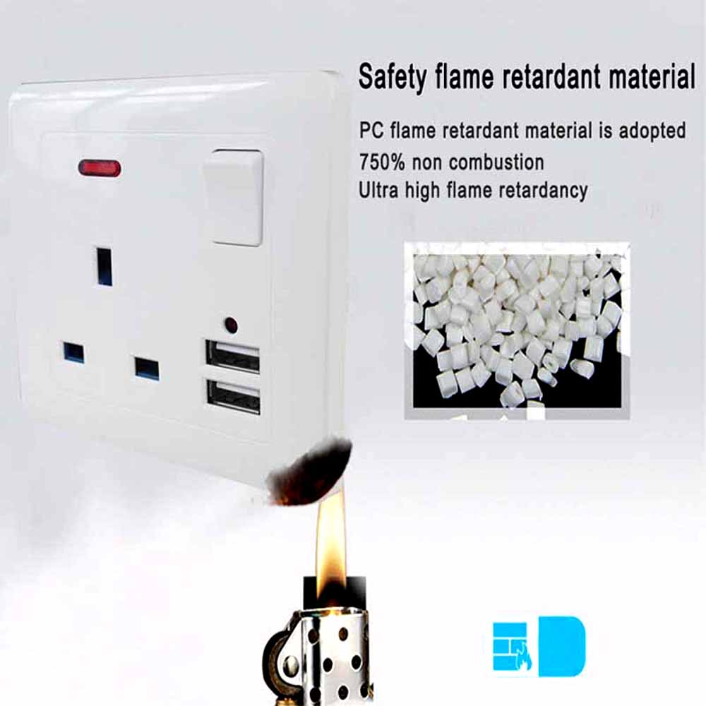 Buy 1pc Single 13a 1 Gang Switched Mains Plug Wiring A British Socket With 21a 2x Fast Usb Ports White From Reliable Electrical Sockets Suppliers On