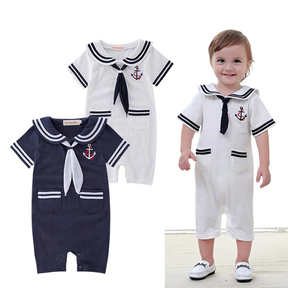 Baby Toddler Boys Girls Sailor Costume Suit Short Sleeve ...
