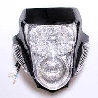 Universal Custom Motorcycle Stunt Streetfighter Black Headlight w/Signal For Suzuki Bandit 400 600 1200 GSF Dirt Bikes