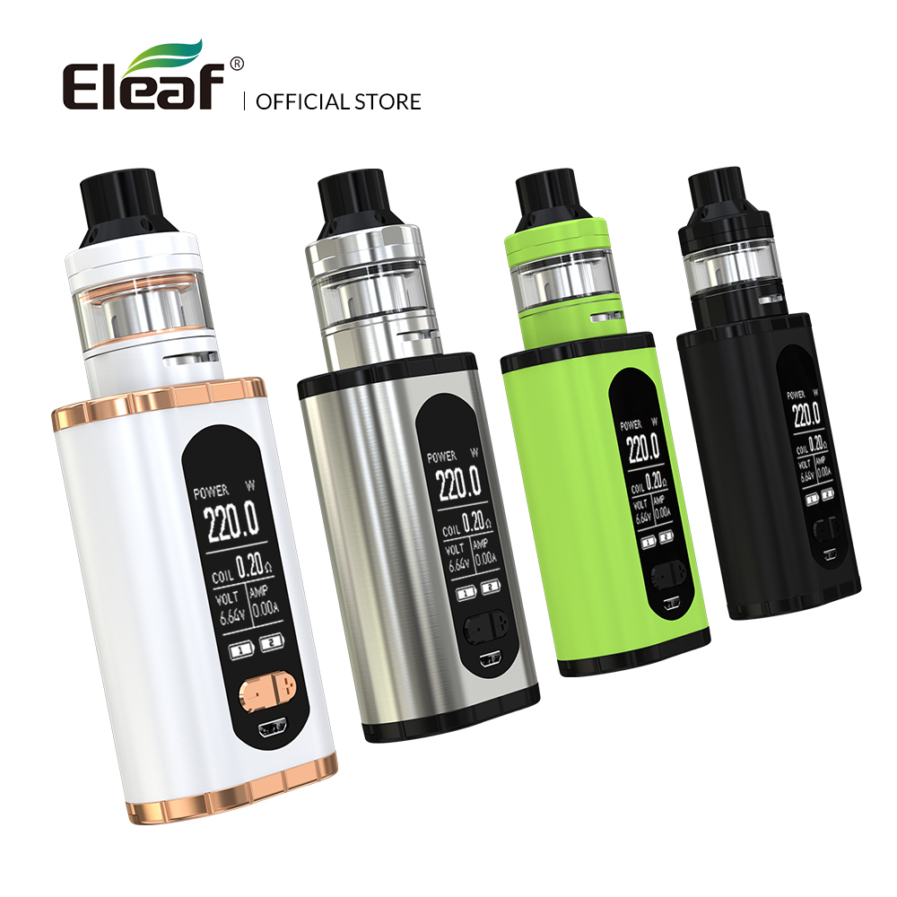 Original Eleaf Invoke with ELLO T kit 220W larger 1.3-inch Screen no batteries electronic cigarette original eleaf invoke 220w with ello t tc kit with 2ml ello t tank extendable to 4ml