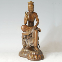 ATLIE BRONZES Buddha Statue  Maitreya Bodhisattva Sculpture Buddhist Temple  Home Decoration Gifts