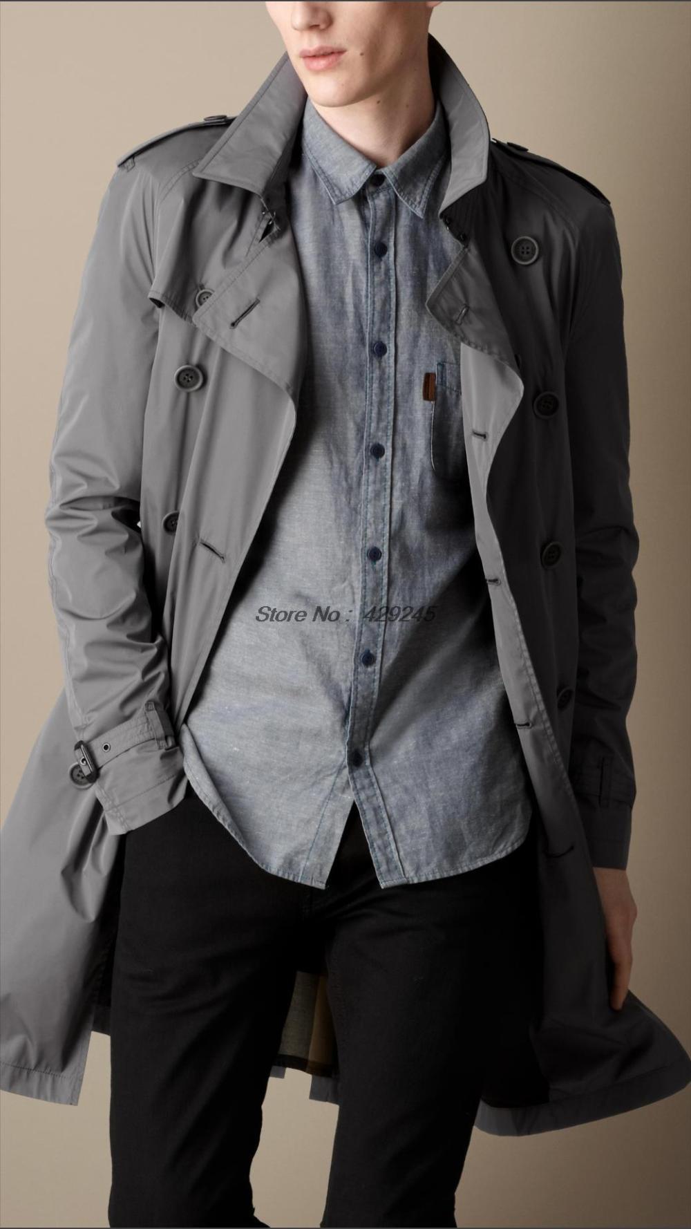 2013 Fashion Trench Coat mid length raglan sleeve 100%
