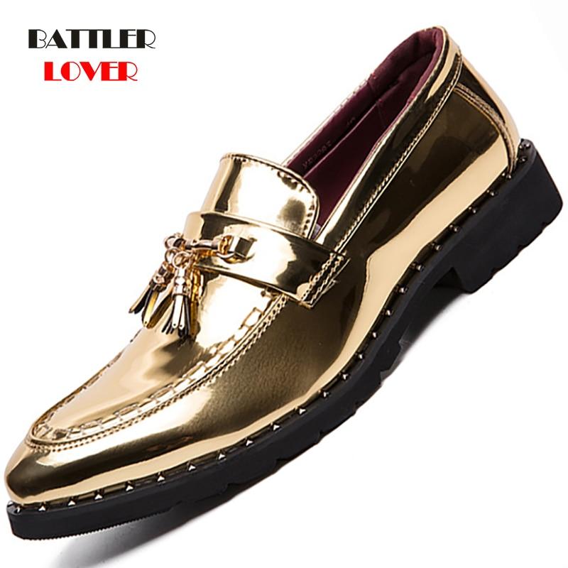 Men Thick Bottom Dress Shoes Plus Size Luxury Italian Style Fashion Mens Formal Dress Shoes Brand Men Business Leather Shoes Men
