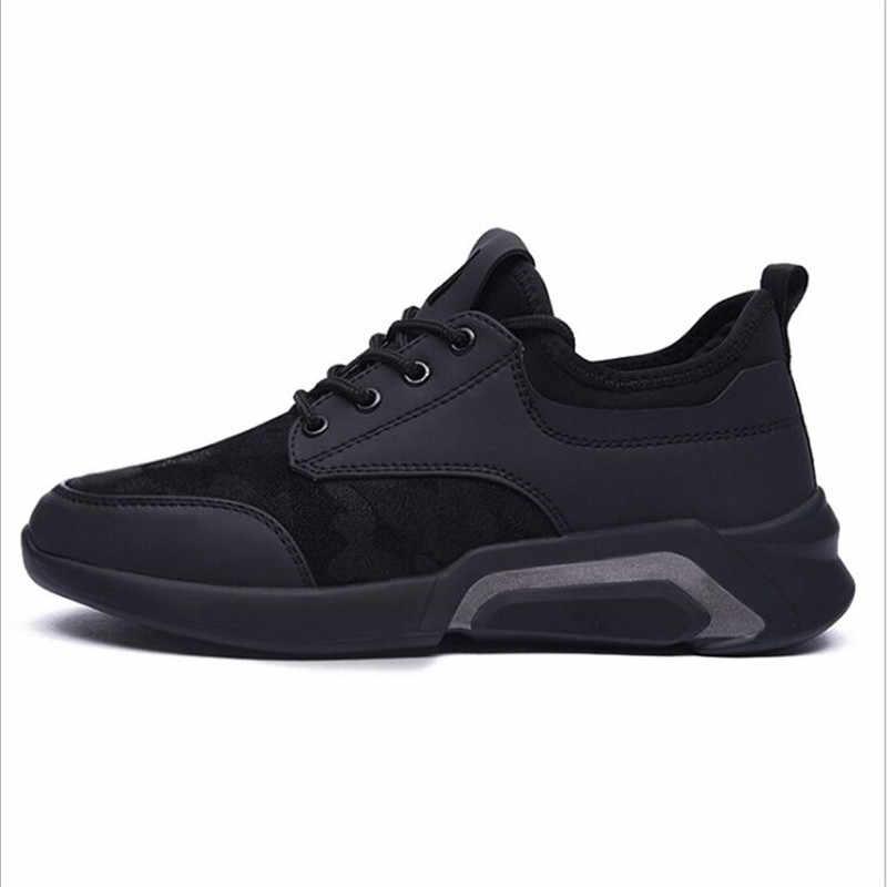 2019 ชายฤดูใบไม้ผลิรองเท้า Breathable สบายๆรองเท้าผู้ชายผู้ชายรองเท้าลูกไม้ Lace Up รองเท้าผ้าใบ zapatillas Deportiva