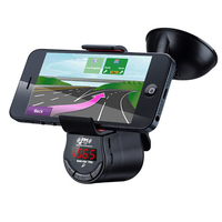 Multifunction Mobile Phone Holder With FM Transmitter Handsfree calling LCD Display MP3 Music Player for IPhone HTC freeshipping