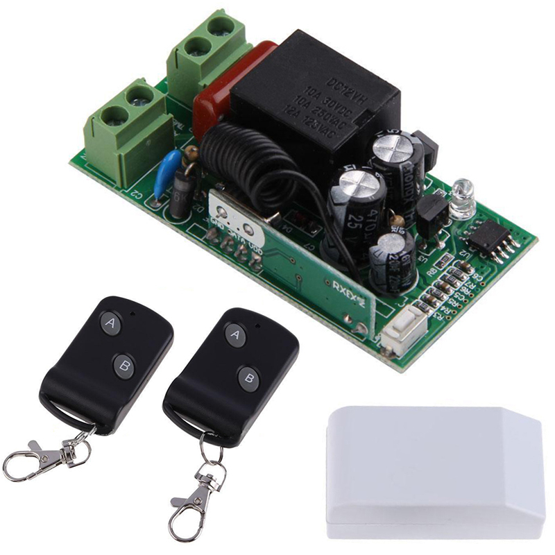 Mayitr 315MHz Wireless 1CH 2 Buttons Transmitter Receiver + 2 Remote Control Switch Module Controllers RF Transceiver AC220V nrf2401b 2 4ghz wireless rf transceiver module