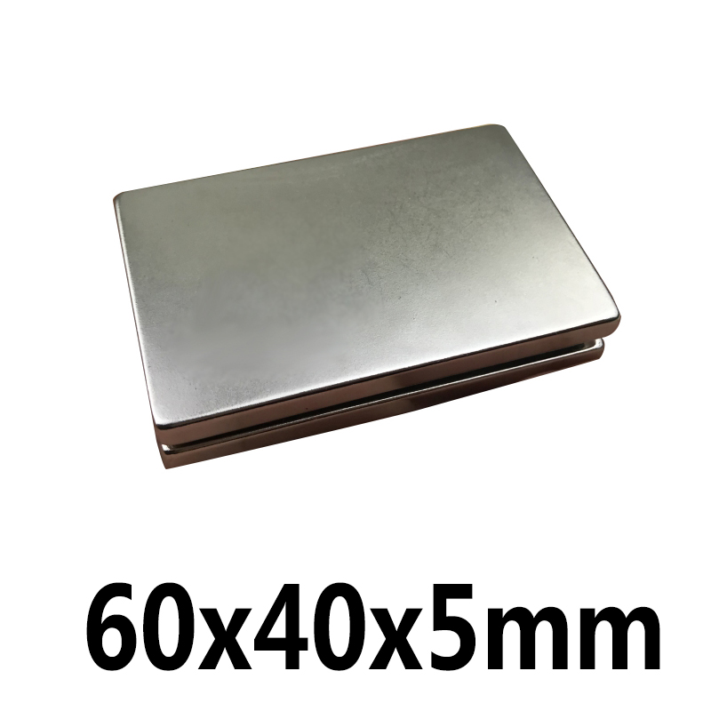 1Pc 60x40x5mm N35 Cuboid Block Magnets Rare Earth Neodymium Magnets Strong Square Permanent Magnet1Pc 60x40x5mm N35 Cuboid Block Magnets Rare Earth Neodymium Magnets Strong Square Permanent Magnet